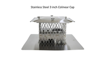 Stainless steel 3x3 inch co-linear cap