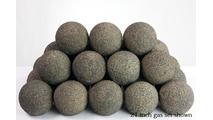 21 inch Coal Alterna Rustic FireBalls Vented Gas Set
