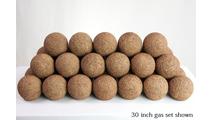 30 Inch Rust Alterna Rustic FireBalls Vented Gas Set