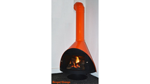 Malm Zircon Direct Vent Gas Fireplace 34 Inch Horizontal Vent - Bengal Orange And Black Base