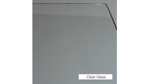 Clear tempered safety glass