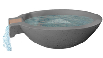 Delta Round Concrete Scupper Bowl shown in Slate