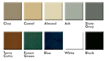 Porcelain finish options for Malm 32 inch Spin A Fire wood burning fireplace