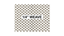 """1/4"""" weave in 20 foot roll of fireplace steel mesh curtain"""