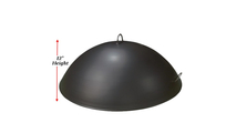 The 42 inch carbon steel dome cover for fire pits is 12 inches high