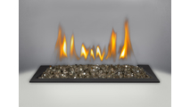 Crystaline ember bed with Topaz glass