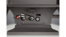 Easy access hidden control panel on the Arlington Direct Vent Gas Stove
