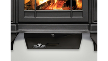 The Banff 1100 Small Wood Burning Stove comes with an ash pan