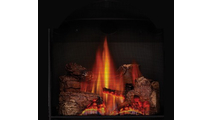 Phazer log set is included with the Bayfield direct vent gas stove