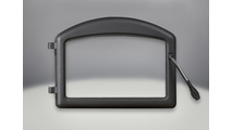 Arched Cast Iron Door with painted Metallic Black finish