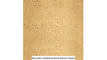 Decorative sandstone brick interior panels