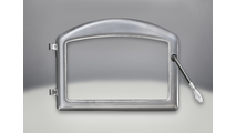 Arched Cast Iron Door with plated Satin Chrome finish