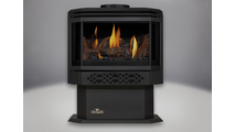 Haliburton Direct Vent Gas Stove with Metallic Black Door