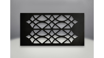 Decorative trivet detail on the Havelock Direct Vent Gas Stove