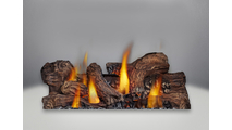 Included Phazer Log Set for the Havelock Direct Vent Gas Stove