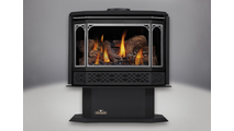 Havelock Direct Vent Gas Stove with Satin Chrome Door