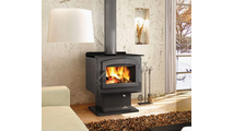 Suggested room setting for the Independence wood stove