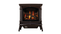 Knightsbridge Direct Vent Gas Stove shown in Majolica Brown porcelain enamel finish