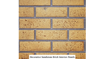 Decorative sandstone brick interior panels