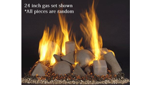24 inch Alterna FireShapes for See Thru Vented Gas Fireplace
