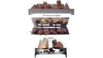 30 inch Alterna FireShapes Venltess See Thru Gas Set