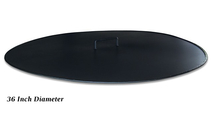 Round Fire Pit Cover Snuffer 36 Inch