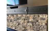 Allegheny Steel Mantel Shelf in Antique Grey