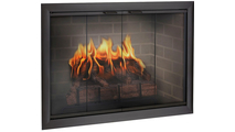 Rustic Black Brookfield Zero Clearance Fireplace Door
