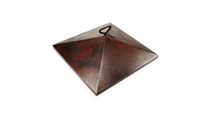 Square Copper Fire Pit Cover 26 Inch for Sierra Fire Bowls by HPC