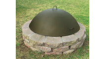 The 42 inch dome cover for fire pits can cover features up to 40 inches in diameter.