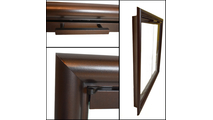 Handle and frame details of the Stoll Coronado Masonry fireplace door on clearance