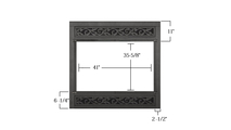 atte Black Custom Z Refacing Fireplace Door sizing