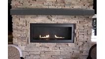 Chesapeake Steel Mantel Shelf with Old World Banding in Burnished Bronze finish