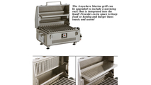 The Marine Anywhere Grill can be upgraded to include a warming rack!