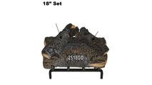 18 inch Blazing Pecan Gas Log Set