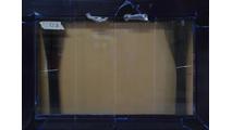 46x33 Flat Black Slimline Masonry Fireplace Door