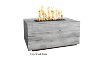 Catalina Ivory Wood Grain Gas Fire Pit 48 Inch