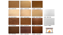 Group image of the wood species and stains available