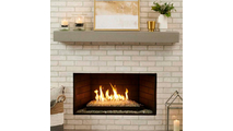 Lifestyle setting with the Crestline Modern Vented Contemporary Gas Set