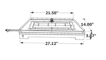 The dimensions of the 27 inch Crestline Modern Vented Contemporary Gas Set