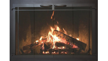 Windsor Contemporary Fireplace Door With Fire