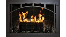 Windsor Supreme Masonry Fireplace Door In Natural Iron