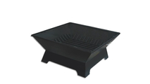 Rectangular Steel Fire Pit with fire pit grate
