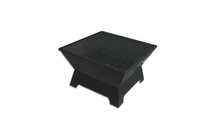 Square Steel Fire Pit with fire pit grate