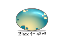 Enter Promo Code BLAZE4 at checkout and receive 4% off this product only!