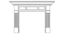 Kennedy Fireplace Wood Mantel