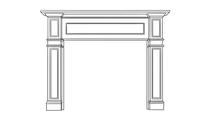 Kingscote Fireplace Wood Mantel