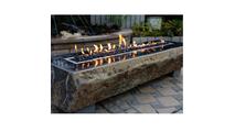 "75"" Long Basalt Fire Table"