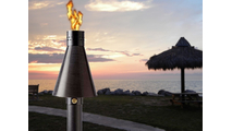 The Black Aluminum match lit TK torch creates a tropical resort feeling!