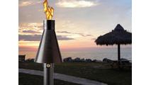 The Black Aluminum match lit TK torch creates a tropical resort feeling!
